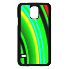Multi Colorful Radiant Background Samsung Galaxy S5 Case (Black)
