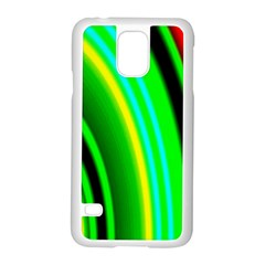 Multi Colorful Radiant Background Samsung Galaxy S5 Case (white)