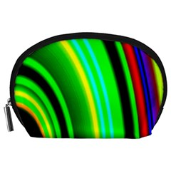 Multi Colorful Radiant Background Accessory Pouches (Large)