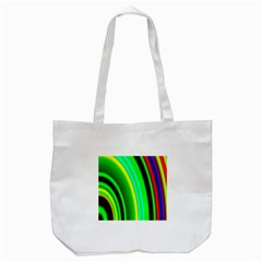 Multi Colorful Radiant Background Tote Bag (White)