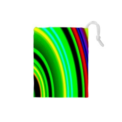 Multi Colorful Radiant Background Drawstring Pouches (small)
