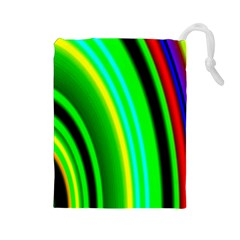 Multi Colorful Radiant Background Drawstring Pouches (large)