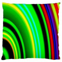 Multi Colorful Radiant Background Standard Flano Cushion Case (Two Sides)