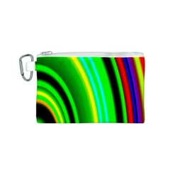 Multi Colorful Radiant Background Canvas Cosmetic Bag (S)