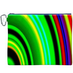 Multi Colorful Radiant Background Canvas Cosmetic Bag (XXXL)