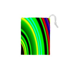 Multi Colorful Radiant Background Drawstring Pouches (XS)
