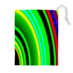 Multi Colorful Radiant Background Drawstring Pouches (Extra Large)