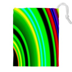 Multi Colorful Radiant Background Drawstring Pouches (XXL)