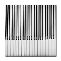 Abstract Piano Keys Background Tile Coasters