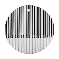 Abstract Piano Keys Background Ornament (Round)