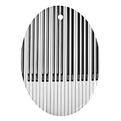 Abstract Piano Keys Background Ornament (Oval)