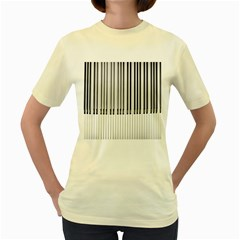 Abstract Piano Keys Background Women s Yellow T-Shirt