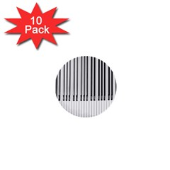Abstract Piano Keys Background 1  Mini Buttons (10 pack)