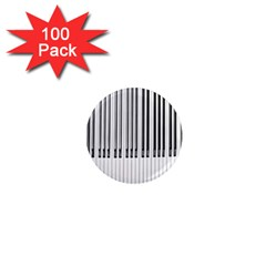 Abstract Piano Keys Background 1  Mini Magnets (100 pack)