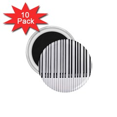 Abstract Piano Keys Background 1.75  Magnets (10 pack)