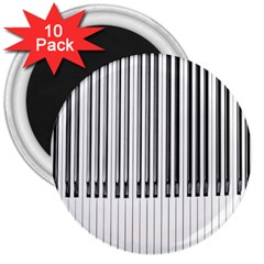 Abstract Piano Keys Background 3  Magnets (10 pack)
