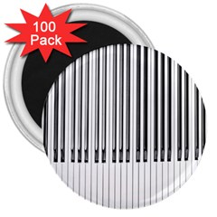 Abstract Piano Keys Background 3  Magnets (100 Pack)