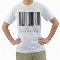 Abstract Piano Keys Background Men s T-Shirt (White) (Two Sided)