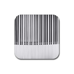 Abstract Piano Keys Background Rubber Coaster (Square)