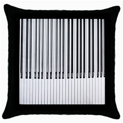 Abstract Piano Keys Background Throw Pillow Case (Black)
