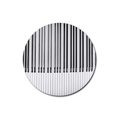 Abstract Piano Keys Background Rubber Round Coaster (4 Pack)