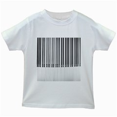 Abstract Piano Keys Background Kids White T Shirts