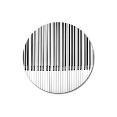 Abstract Piano Keys Background Magnet 3  (round)