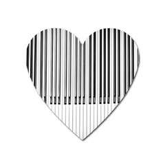 Abstract Piano Keys Background Heart Magnet