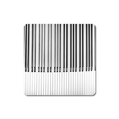 Abstract Piano Keys Background Square Magnet