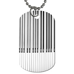Abstract Piano Keys Background Dog Tag (one Side)