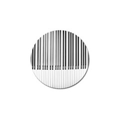 Abstract Piano Keys Background Golf Ball Marker (4 Pack)