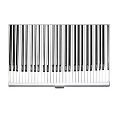 Abstract Piano Keys Background Business Card Holders