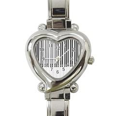 Abstract Piano Keys Background Heart Italian Charm Watch