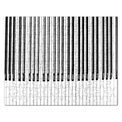 Abstract Piano Keys Background Rectangular Jigsaw Puzzl