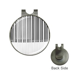 Abstract Piano Keys Background Hat Clips with Golf Markers