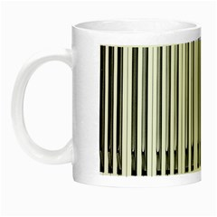 Abstract Piano Keys Background Night Luminous Mugs