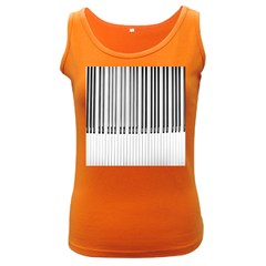Abstract Piano Keys Background Women s Dark Tank Top