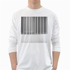 Abstract Piano Keys Background White Long Sleeve T Shirts