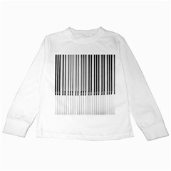 Abstract Piano Keys Background Kids Long Sleeve T-Shirts