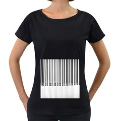 Abstract Piano Keys Background Women s Loose-Fit T-Shirt (Black)
