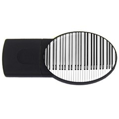 Abstract Piano Keys Background USB Flash Drive Oval (4 GB)