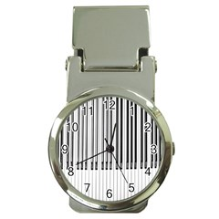 Abstract Piano Keys Background Money Clip Watches
