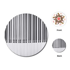 Abstract Piano Keys Background Playing Cards (Round)