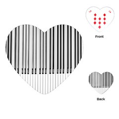 Abstract Piano Keys Background Playing Cards (heart)