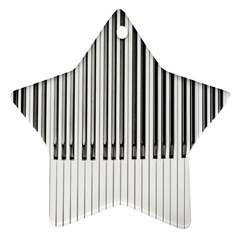 Abstract Piano Keys Background Star Ornament (Two Sides)