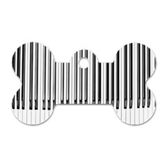 Abstract Piano Keys Background Dog Tag Bone (Two Sides)