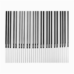 Abstract Piano Keys Background Small Glasses Cloth (2-Side)
