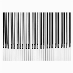 Abstract Piano Keys Background Large Glasses Cloth