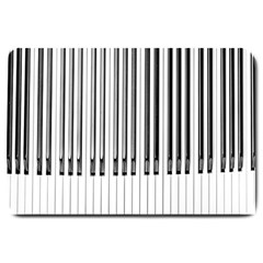Abstract Piano Keys Background Large Doormat