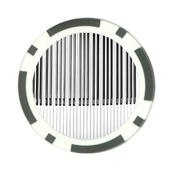 Abstract Piano Keys Background Poker Chip Card Guard